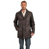 La Canadienne 3/4 Cuir Chaud Homme Marron