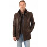 La Canadienne Sur-veste Cuir Vachette Homme Marron
