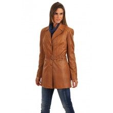 La Canadienne Trench Cuir Femme Cuivre