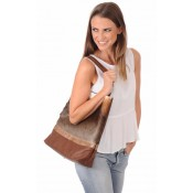 Rarity Sac à Main en Nguni Femme Naturel
