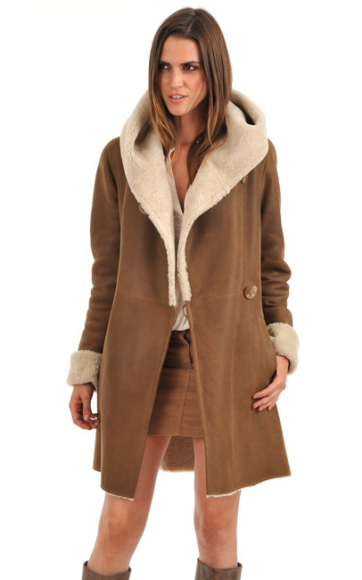 Manteau femme peau pas cher