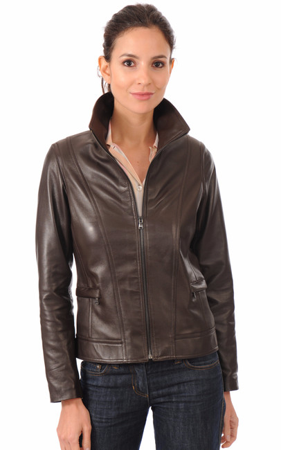 La Canadienne Blouson Coupe Confortable Femme Marron