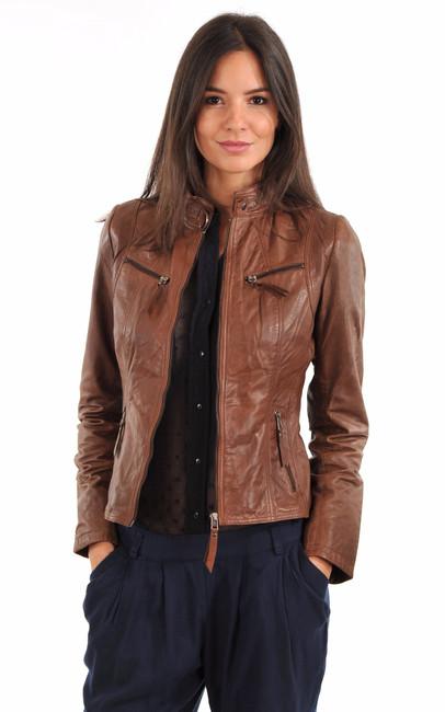 Blouson cuir femme discount
