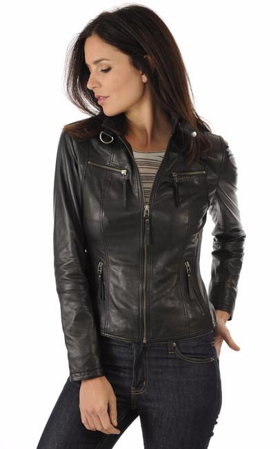 La canadienne veste cuir femme