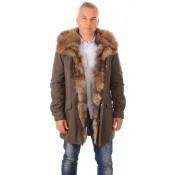 Artico Parka Coton et Raccoon Homme Kaki
