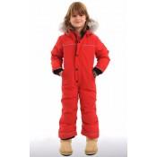 Canada Goose Combinaison Grizzly Snowsuit Enfant Rouge