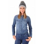 Hpi Bonnet Textile&fourrure Femme Gris