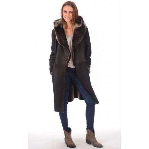 Manteaux cuir et peau lainée pour femme   La Canadienne