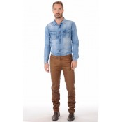 La Canadienne Pantalon Stretch Camel Homme Café