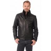 Milestone Blouson Cuir Coupe Confortable Homme Noir