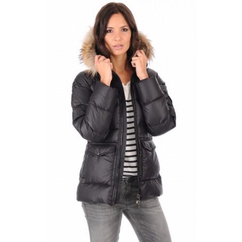 Boutique De Pyrenex Doudoune Authentic Courte Femme Noir