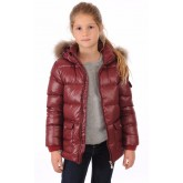 Pyrenex Doudoune Authentic Jacket Bordeaux Fille Enfant Bordeaux