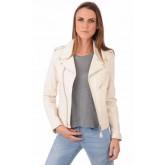 Schott Perfecto LCW1601D Blanc Femme Blanc