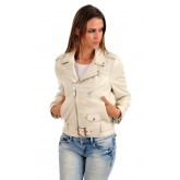 Schott Perfecto LCW8600 Blanc Femme Blanc