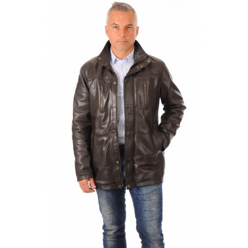 France France Smarty Smarty Smarty Chaud Cher Marron Homme Cuir Pas Veste 34 YRgvqrY