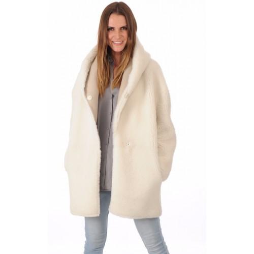 femme veste peau lainée mérinos reversible